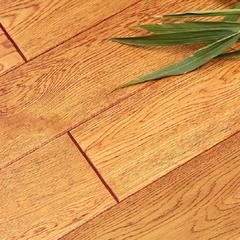 豆白金大豆蛋白胶实木多层地板(黄橡) 工厂店 1220*165*15 平方米