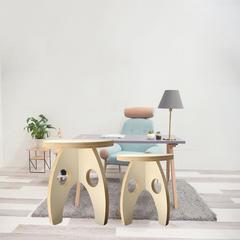 拜尔三孔童心儿童圆凳方登椅子实木多层板家具儿童卧室家具 25cm*25cm 个 大豆蛋白胶多层板